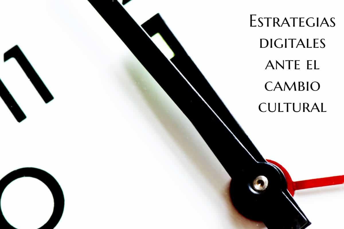 manillas de un reloj que indican un cambio de la era digital